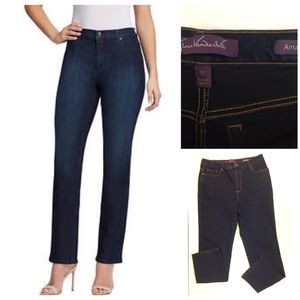 Gloria Vanderbilt Amanda dark wash blue jeans 12